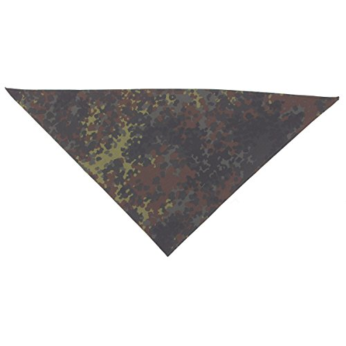 Original Bundeswehr Dreieckstuch Dreiecktuch Gebraucht Farbe: Flecktarn 130 x 100 cm Gesichtsschutz Staubschutz Halteschlinge