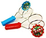 Schylling Classic Light Up Magnetic YoYo Gyro Wheel Red & Blue Gift Set Bundle - 2 Pack