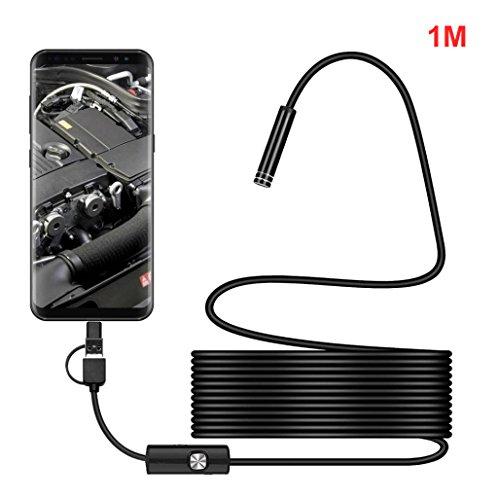 3 en 1 Cámara HD Digital Endoscopio Boroscopio impermeable IPX67/ 8MM Diámetro/ 6 LED de Sannysis para Andorid Smartphone, Samsung, Tablet, Tableta (1M)