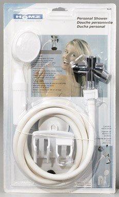 Homz Shower Handheld Chrome, White