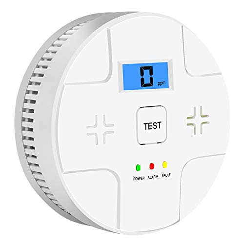 Smoke and Carbon Monoxide Detector Powered by Battery,Dual Alarm Sensor of Smoke and CO,Silence Button,Easy to Install