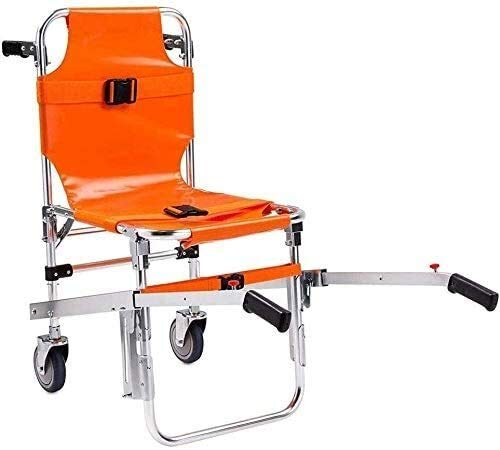 Aluminum Light Evacuation Stair Chairn, Stair Climbing Wheelchair Ambulance, Firefighter Lift Stair Chair with Quick Release Buckles 91