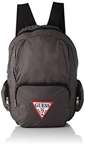 Guess Bags Backpack, Mochila para Hombre, Gris (Grey), 18x44x28 centimeters (W x H x L)