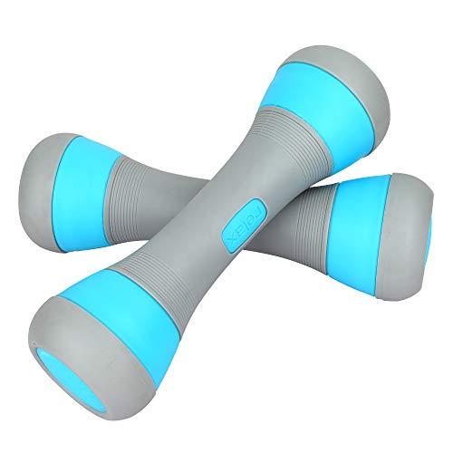 ZhaoCo Verstellbares Hantelset, Hantel für Damen, 5 Gewichtsoptionen von 1 bis 2 kg, Rutschfester Neopren Griff - Blau
