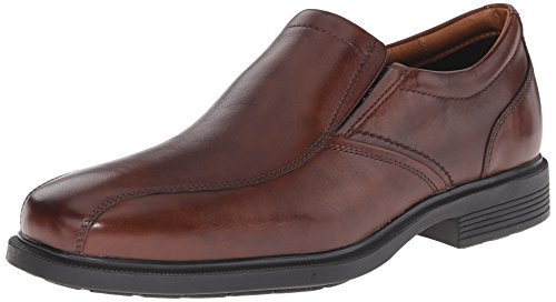Rockport Men's Dressports Luxe Bike Toe Slip On Oxford, New Brown, 11 M US