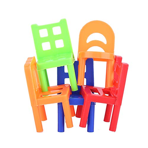 18PCS Stack Up Chairs Tower, Kinder Balance Stacking Stühle Balancing Game Toy Party Favor Familienpuzzle Brettspiele für Kinder