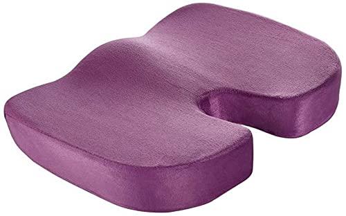 WXFCAS Cojín de asiento ortopédico de espuma de memoria mejorada del gel, cojines de silla de oficina de soporte inferior para el alivio del dolor de la ciática, el cojín del asiento del automóvil del