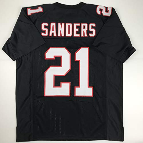 Unsigned Deion Sanders Atlanta Black Custom Stitched Football Jersey Size Men's XL New No Brands/Logos