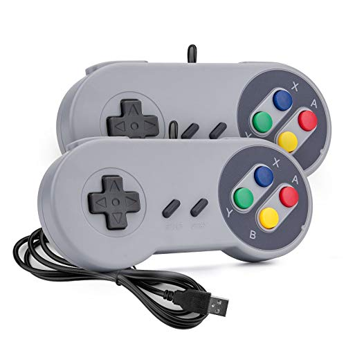 Game Controller,Retropie Controller,SNES Retro USB Controller Joystick for Windows PC MAC Linux Raspberry Pi 2 Pack