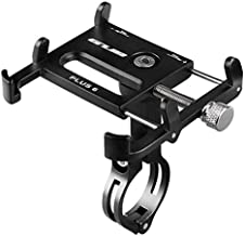GUB Bicycle & Motorcycle Phone Mount, Aluminum Alloy Bike Phone Holder with 360° Rotation for iPhone 11 Pro Max X XR Xs 7s 8 Plus, Samsung S20 S7/S6/Note10/9/8/4 GPS Mount 4 to 6.5 Inch (Black)