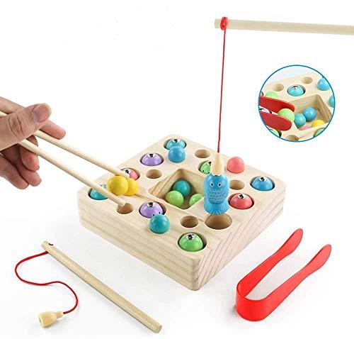 jerryvon Juego De Pescar para Niños - Juguetes Montessori B