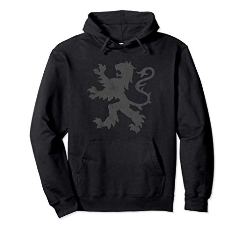 Distressed Scottish Jersey Rampant Lion Scotland Rugby Top Pullover Hoodie