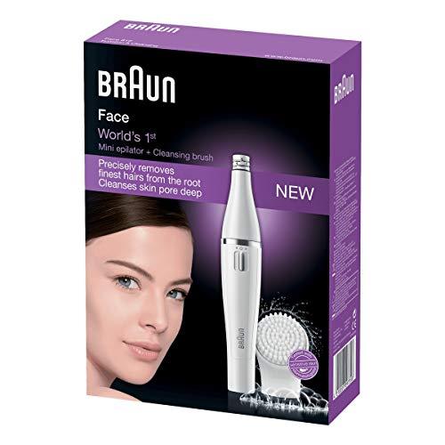 Braun Face 810 - Épilateur Visage & Brosse Nettoyante visage à micro-oscillations, Argent