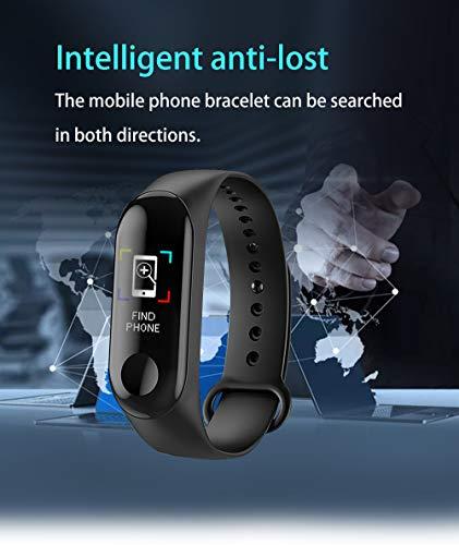 TIAS Pulsera inteligente M3, monitor de actividad física, monitor de presión arterial, frecuencia cardíaca, contador de… 5