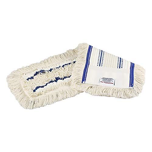 Baumwoll Wischmop 80 cm mit Mikrofaser Ersatz für Mop Klapphalter - Wischmoppbezug , für Versiegelung Reinigung von Bodenbeläge wie Laminat, Dielen, Fliesen, Feudel, Bodenwischer Mop Ersatzbezug (1)