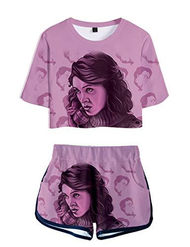 Camiseta y Pantalón Corto Stranger Things Adolescente Chica