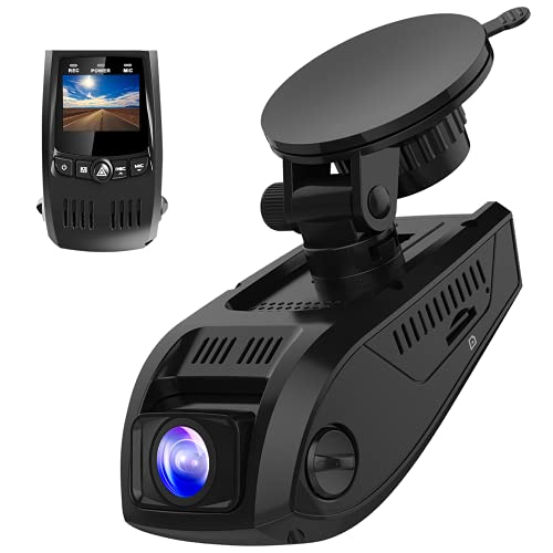 Pruveeo F5 Dash Cam 2021 Upgraded 1080P Support 128GB FHD 1920x1080P Dash Camera for Cars 170° Wide Angle, G-Sensor, WDR, 24H Parking Monitor, Loop Recording