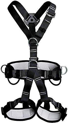 WILDKEN Arnés de Seguridad de Escalada para Hombre Mujer Alpinismo Cuerda Equipo Escalada Ajustable Al Aire Libre Rappel Cinturón Seguridad de Rescate (Completo A)