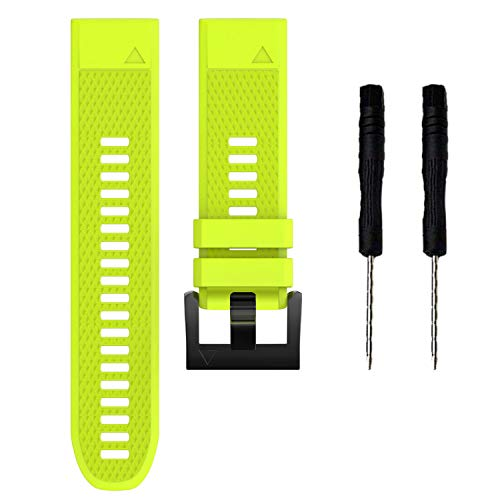 KHZBS 22mm Quick Fit Rubber Strap Replacement for Garmin Fenix 5/ Fenix 5 Plus/Fenix 6/ Forerunner 935/Approach S60/ Quatix 5 Smartwatch Silicone Band