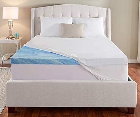 Amazon Com Serta Rest Twin 3 Inch Gel Memory Foam Mattress Topper 39 X 75 X 3 Home Kitchen