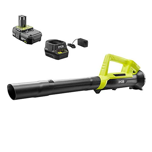 RYOBI ONE+ 90 MPH 200 CFM 18-Volt Lithium-Ion Cordless Leaf Blower - 2.0 Ah Certified RECONDITIONED