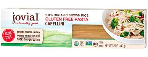 Jovial Capellini Gluten-Free Pasta | Whole Grain Brown Rice Capellini Pasta | Non-GMO | Lower Carb | Kosher | USDA Certified Organic | Made in Italy | 12 oz