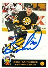 Autograph Warehouse 55335 Fred Knipscheer Autographed Hockey Card Boston Bruins 1994 Classic No .60