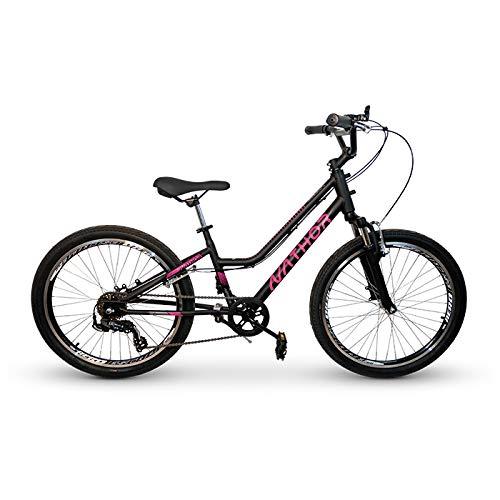 Bicicleta Infantil Nathor Aro 24 Bella Preta 6v Suspensão