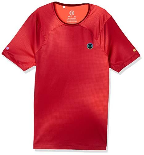 Under Armour 1351559-687 Heatgear Rush Camiseta SS20, Rosa Surge/Negro (687), L