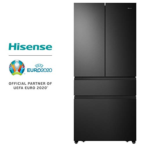 Hisense RF540N4SBF2 FrenchDoor / Kühl-Gefrierkombination / NoFrost / A++ / Inverter Kompressor / Kühlteil 299 Liter / Gefrierteil 90 Liter / My Fresh Choice 32 Liter / Black Inox Look