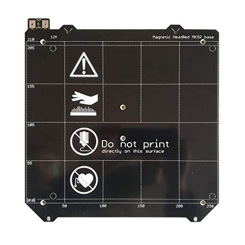 Facibom 3D Printer Parts Clone I3 Mk3 3D Printer Heated Bed Magnetic Mk52 Heatbed 24V Assembly