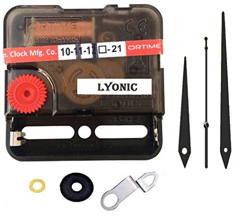 LYONIC Ajanta Mfg.Quartz Sweep & Silent Movement Machine for Wall Clock (Needle -Black) Made in India
