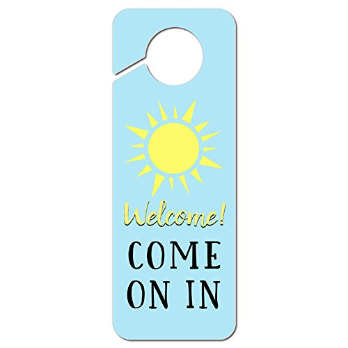 Graphics and More Welcome Come on in Plastic Door Knob Hanger Sign