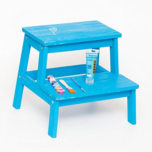 QARYYQ opstapkruk kinderen opstapje thuis massief houten ladder kruk multifunctionele kleur opstapkruk