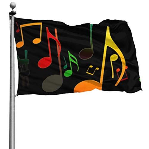 Onled schöne Garten-Flaggen für draußen, Musik-Sound, Quiz-Flaggen | langlebig, Polyester, 122 x...