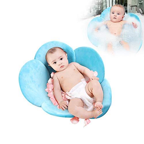 Baby Badematte Blume Badewanne Sitze Rutschfest Tragbare Faltpolster Infant Bad Kissen Super Weicher kurzer Plüsch