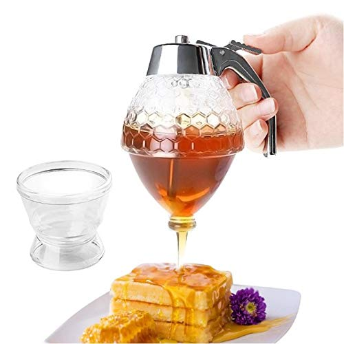 Read About Hunnibi - No Drip Honey Dispenser, Acrylic Shatter Proof Syrup Pot Jar Container