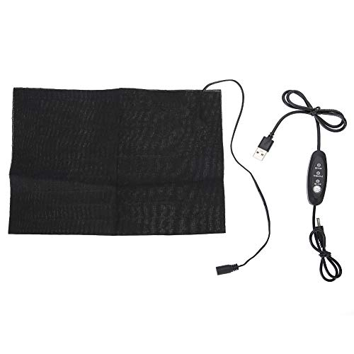 Taille verwarmingsmat, USB opladen, gewassen lichtgewicht zwarte stoffen verwarming, draagbaar praktisch voor lumbale…