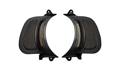 Custom Dynamics Dynamic LED Vent Inserts for 2015-2020 Road Glide Motorcycles - Black with Stainless Mesh