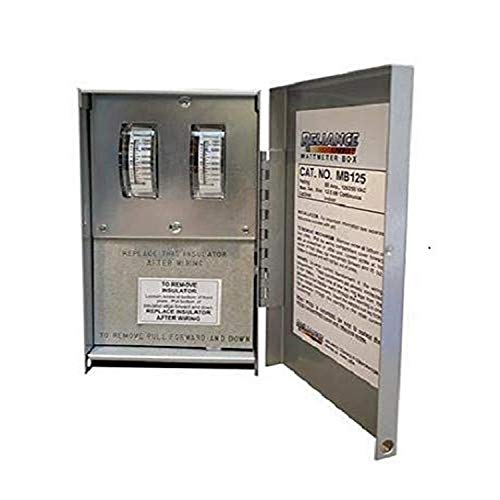 Reliance Controls MB125 Indoor 50-Amp Wattmeter Box