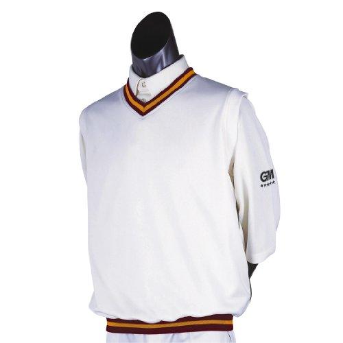Gunn & Moore - Golf-Pullover & -Sweatshirts für Herren in WeiÃ?/Kastanienbraun, Größe M