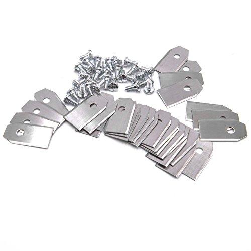 vhbw 30x Ersatz-Messer kompatibel mit YardForce SA500 ECo, SA600H, SC600 Eco, SA800 Pro, Amiro 400i, SA900, HQ18 Rasenmäher - Ersatzklinge, Silber