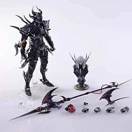 Yhwqhg Final Fantasy XIV Anime Actionfigur Estinien Puppe Modell Dekoration PVC Boxed Statue 18cm Anime Figur Actionfigur