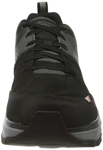 Skechers Performance MAX Cushioning Trail, Zapatillas Hombre, Negro (BKCC Black Leather/Synthetic/Charcoal Trim), 42 EU
