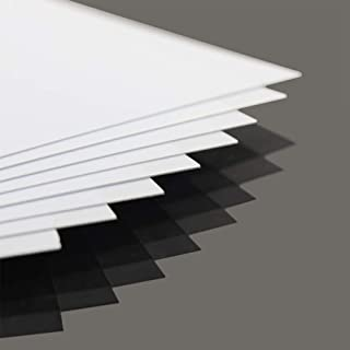 ABS0905 8 pcs 0.5mm Thickness 200mm x 250mm White Polystyrene Sheets 9.84'' x 7.87'' x 0.02'' ABS Styrene Sheets for Model Train Layout New
