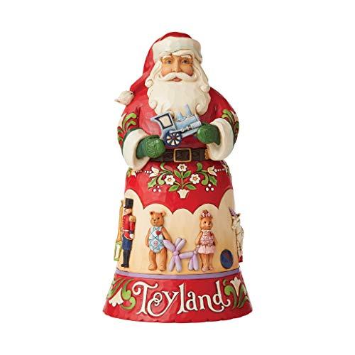 Enesco Jim Shore Heartwood Creek 14th Annual Christmas Song Toyland Santa Figurine, 10 Inch, Multicolor