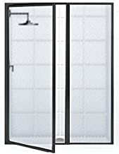 Coastal Shower Doors L31IL11.69O-A Legend Series Framed Hinge Swing Shower Door with Inline Panel in Obscure Glass 42