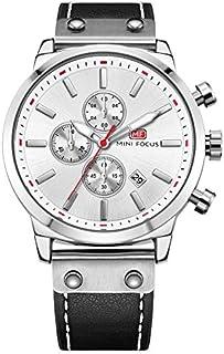 Mini Focus Mens Quartz Watch, Chronograph Display and Leather Strap - MF0110G.01