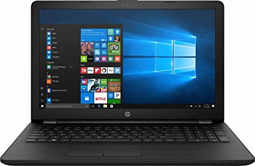High Performance HP 15.6' Laptop PC AMD A6-7310 Quad-Core Processor 4GB RAM 500GB HDD AMD Radeon R4 Graphics DVD-RW HDMI WIFI HDMI Webcam DTS Audio Windows 10-Black