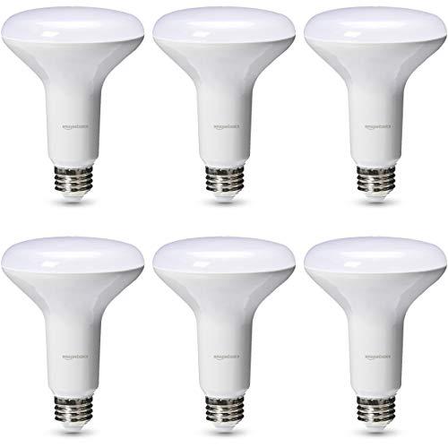 AmazonBasics Commercial Grade 25,000 Hour LED Light Bulb   65-Watt Equivalent, BR30, Daylight, Dimmable, 6-Pack